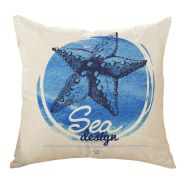 Starfish Mediterranean Style Decorative Pillow Covers 45*45CM