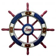 Wall Decorative Hanging Ornaments Wood Retro Rudder