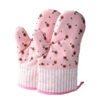 1 Pair Heat Resistant Thicken Oven Mitts For Cooking Or Baking (A2)