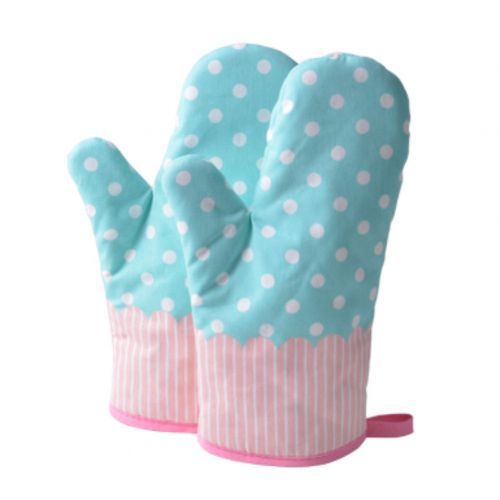 1 Pair Heat Resistant Thicken Oven Mitts For Cooking Or Baking (A3)