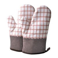 1 Pair Heat Resistant Thicken Oven Mitts For Cooking Or Baking (A4)