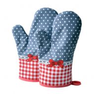 1 Pair Heat Resistant Thicken Oven Mitts For Cooking Or Baking (A7)