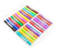 24PCS Non-toxic Highlighter Double-headed Marker Pen Writing-markers