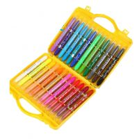 Non-Toxic Water Soluble Rotating Crayons Oil Painting Sticks 24 colors