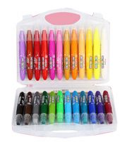 Washable Kids Crayon Drawing Oil Painting Sticks 24 colors