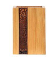 Wooden Desk Storage Box Pencil Holders Pen Case Box 8x8x11CM