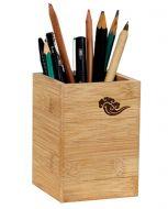 Wooden Pen Case Box Desk Storage Box Pencil Holders 8x8x11CM