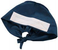 Adjustable Tie Back Cotton Scrub Cap Nurse Hat Medical Doctor Cap(Indigo)
