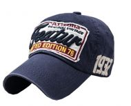 Adjustable Unisex Cool Baseball Cap Summer Hat Cotton Free Size(Navy)