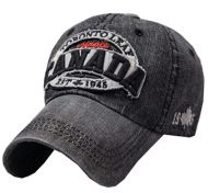 Adjustable Unisex Cool Baseball Cap Denim Hat Sunscreen Free Size(Black)