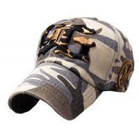 Outdoor Adjustable Unisex Cool Baseball Cap Summer Hat Cotton Free Size(Grey)