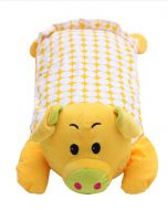Baby Kids Children Plush Toys Plush Pillows Pig Yellow 19.68*9.87 Inches