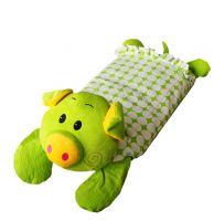 Green Pig Baby Kids Children Plush Toys Plush Pillows 19.68*9.87 Inches