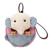 [Elephant]Small Pocket Purse Animal Case Zipper Pouch Wallet Bag 3.94