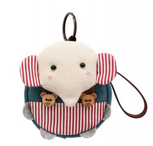 [Pink]Small Pocket Purse Animal Case Zipper Pouch Wallet Bag 3.94