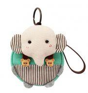 [Green]Small Pocket Purse Animal Case Zipper Pouch Wallet Bag 3.94