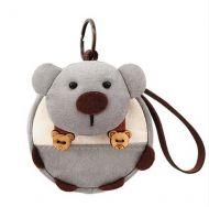 [Bear]Small Pocket Purse Animal Case Zipper Pouch Wallet Bag 3.94